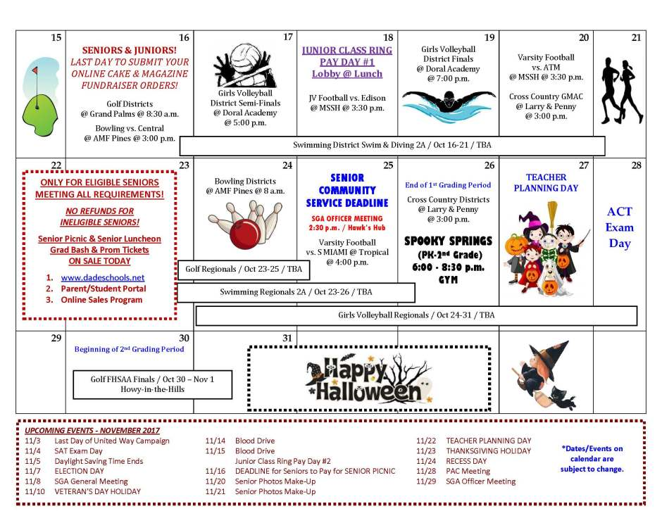 OCTOBER Activities & Athletics Calendar _Page_2