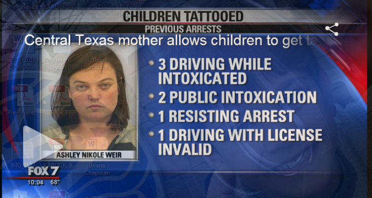 Texas Mother Arrested After Allowing The Tattooing Of Her Three Kids